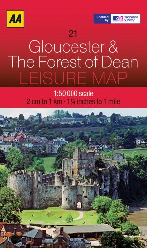 9780749572853: Leisure Map Gloucester & the Forest of Dean (Aa Leisure Maps)