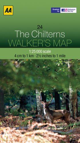 Walker's Map The Chilterns: AA Publishing