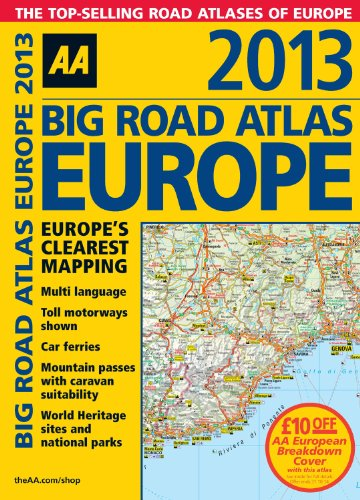 9780749573737: 2013 Big Road Atlas Europe