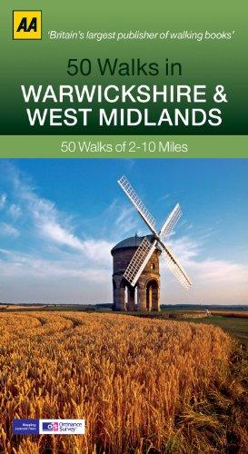 9780749574079: 50 Walks in Warwickshire & West Midlands (AA 50 Walks Series)