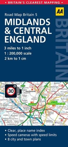 9780749574659: GB05: Midlands & Central England 1:200K (Road Map Britain)