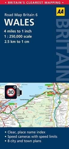 9780749574666: Road Map Wales (Road Map Britain)
