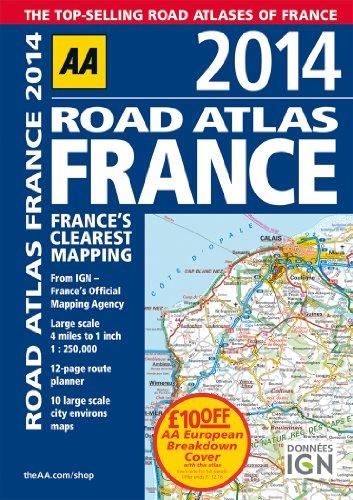 9780749575281: AA Road Atlas France