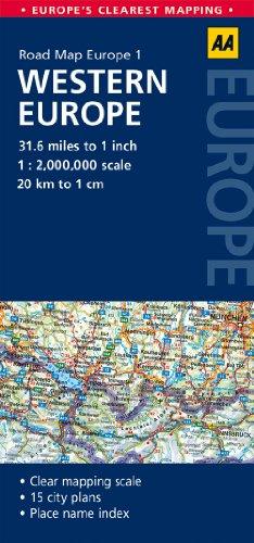 9780749575298: Road Map Western Europe (AA Road Map Europe 1 ...