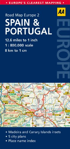 9780749575304: Road Map Spain & Portugal (Road Map Europe)