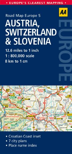 9780749575335: AA Road Map Austria, Switzerland & Slovenia