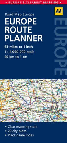 Road Map Europe Route Planner: AA Publishing