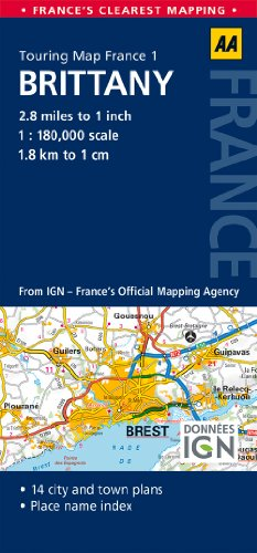 9780749575458: Road Map Brittany (Road Map France)