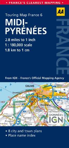 9780749575502: Road Map Midi-Pyrénéés (Road Map France)