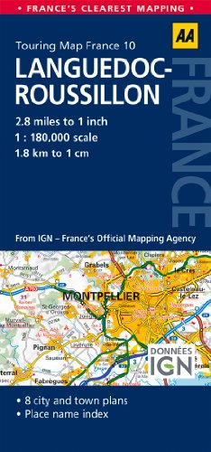 9780749575540: Road Map Languedoc-Roussillon (Road Map France)