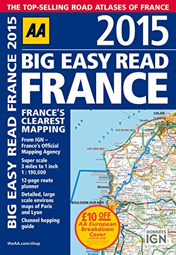 9780749576646: 2015 Big Easy Read France: France's Clearest Mapping (Aa Big Easy Read)