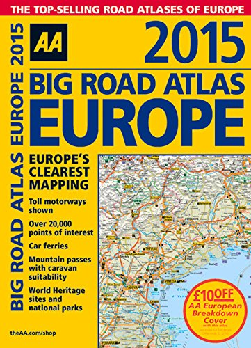 9780749576660: Big Road Atlas Europe 2015