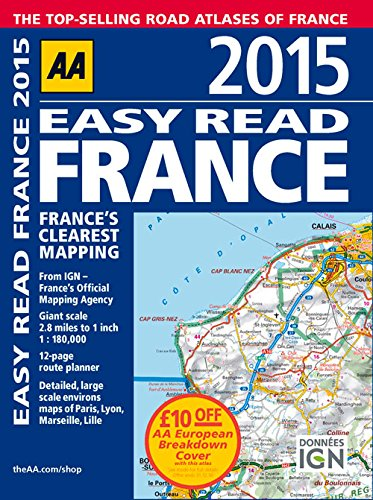 9780749576684: 2015 Easy Read France: France's Clearest Mapping