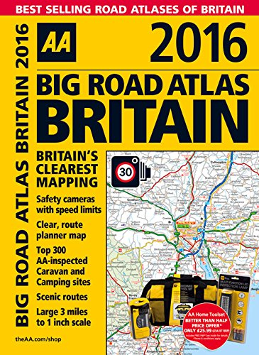9780749576820: Big Road Atlas Britain 2016 (Aa Big Road Atlas)