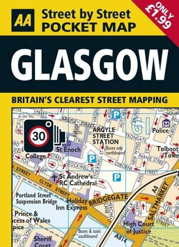 9780749577056: AA Pocket Map Glasgow (AA Street by Street)