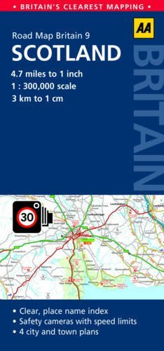 9780749577186: Scotland Road Map (Aa Road Map Britain)