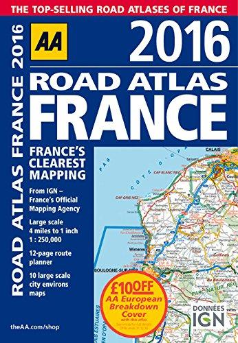 9780749577544: AA Road Atlas France 2016