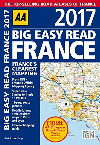 9780749577858: AA Big Easy Read France 2017 (Aa Road Atlas) [Idioma Inglés]