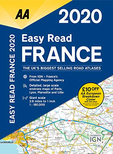 9780749581398: Easy Read France 2020 Flexibound (AA Road Atlas France)