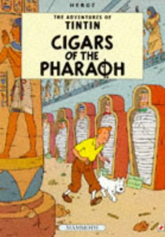 Cigars of the Pharoh - The Adventures of TINTIN. Set of 2 books. The first is a Casterman facsimi...