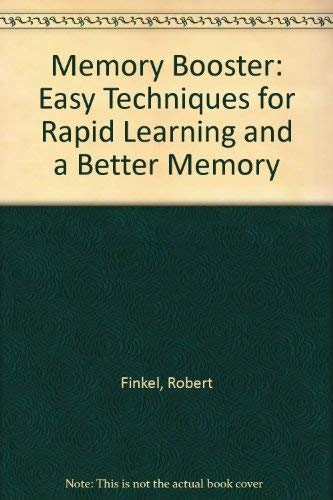 9780749911607: Memory Booster: Easy Techniques for Rapid Learning and a Better Memory