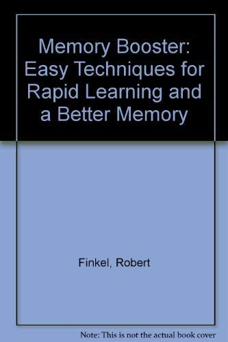 9780749911676: Memory Booster: Easy Techniques for Rapid Learning and a Better Memory