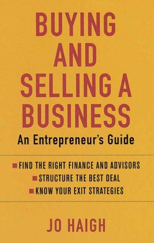 9780749927394: Buying and Selling a Business: An Entrepreneur's Guide