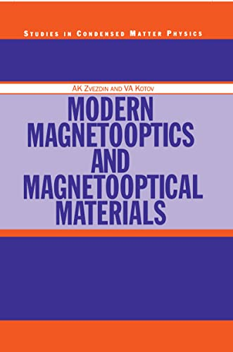 9780750303620: Modern Magnetooptics and Magnetooptical Materials (Condensed Matter Physics)