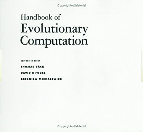 9780750308953: Handbook of Evolutionary Computation