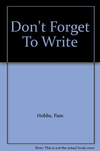 9780750533492: Don't Forget To Write