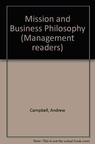 9780750605090: Mission and Business Philosophy (Management readers)