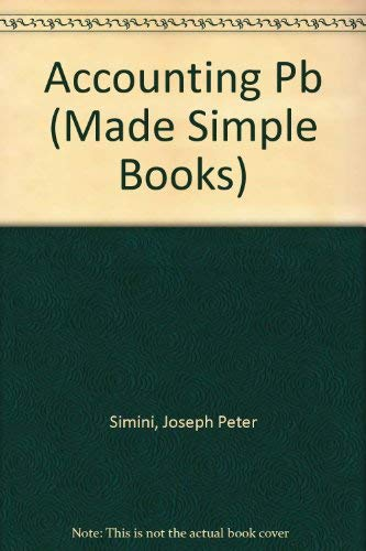 Accounting (Made Simple Books): Joseph Peter Simini,