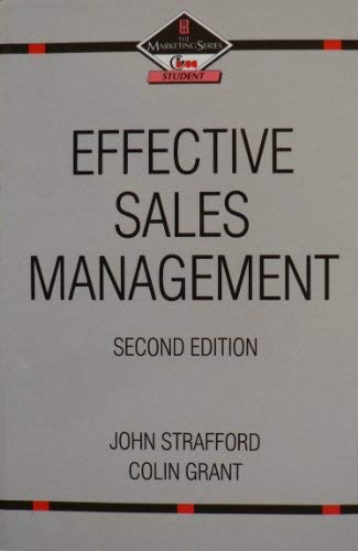 9780750608558: Effective Sales Management (Marketing Series)