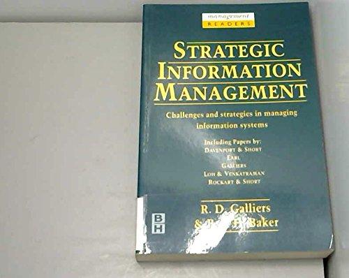 9780750617314: Strategic Information Management: Challenges and Strategies in Managing Information Systems (Management Readers)