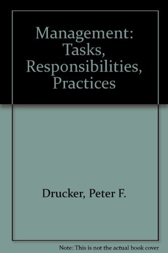 9780750619097: Management - Tasks, Responsibilities, Practices
