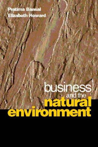 Business and the Natural Environment: Pratima Bansal