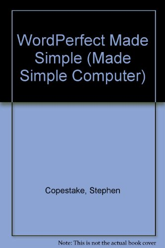 WORDPERFECT MADE SIMPLE (MADE SIMPLE COMPUTER BOOKS S.)