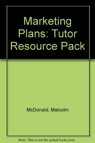 9780750623049: Marketing Plans Tutor Resource Pack