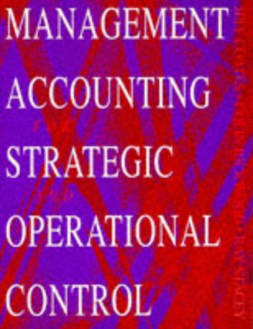 9780750624527: Management Accounting for Strategic and Operational Control