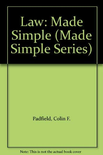 9780750626804: Law: Made Simple (Made Simple Series)