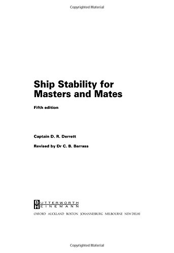 9780750641012: Ship Stability for Masters and Mates, Fifth Edition