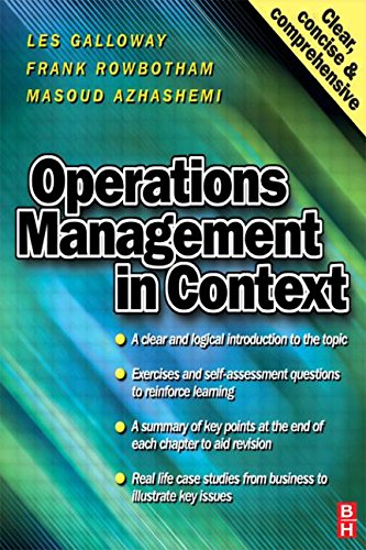 9780750642804: Operations Management in Context