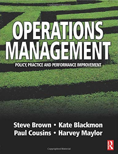 9780750649957: Operations Management