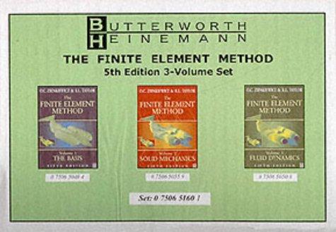9780750651608: Finite Element Method Set, Fifth Edition: 3 Volume Set