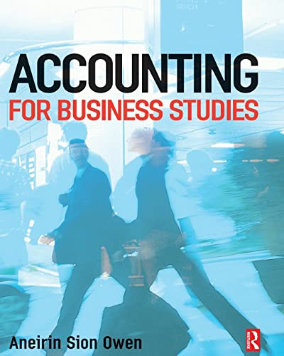 Accounting for Business Studies: Aneirin Owen