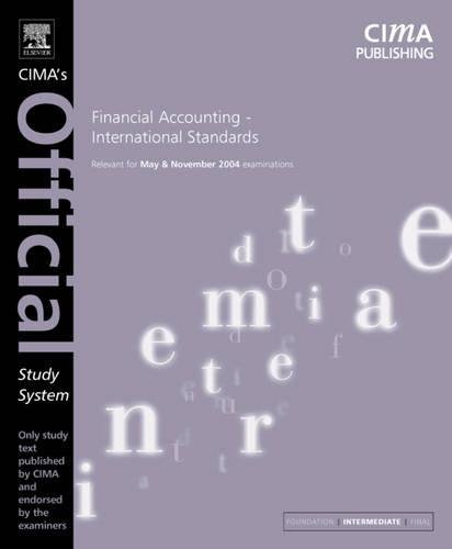 Financial Accounting International Standards. For May and: Luisa Robertson