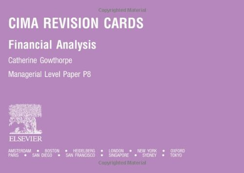 9780750664882: CIMA Revision Cards: Financial Analysis