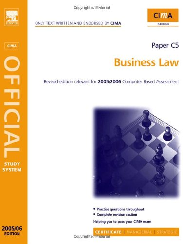 9780750667074: CIMA Study Systems 2006: Business Law (CIMA Study System Series-Certificate Level)