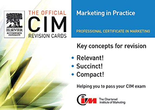 9780750667739: CIM Revision card: Marketing in Practice (Official CIM Revision Cards)
