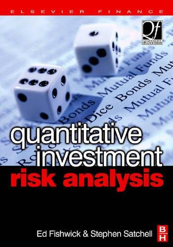 9780750668521: Quantitative Investment Risk Analysis